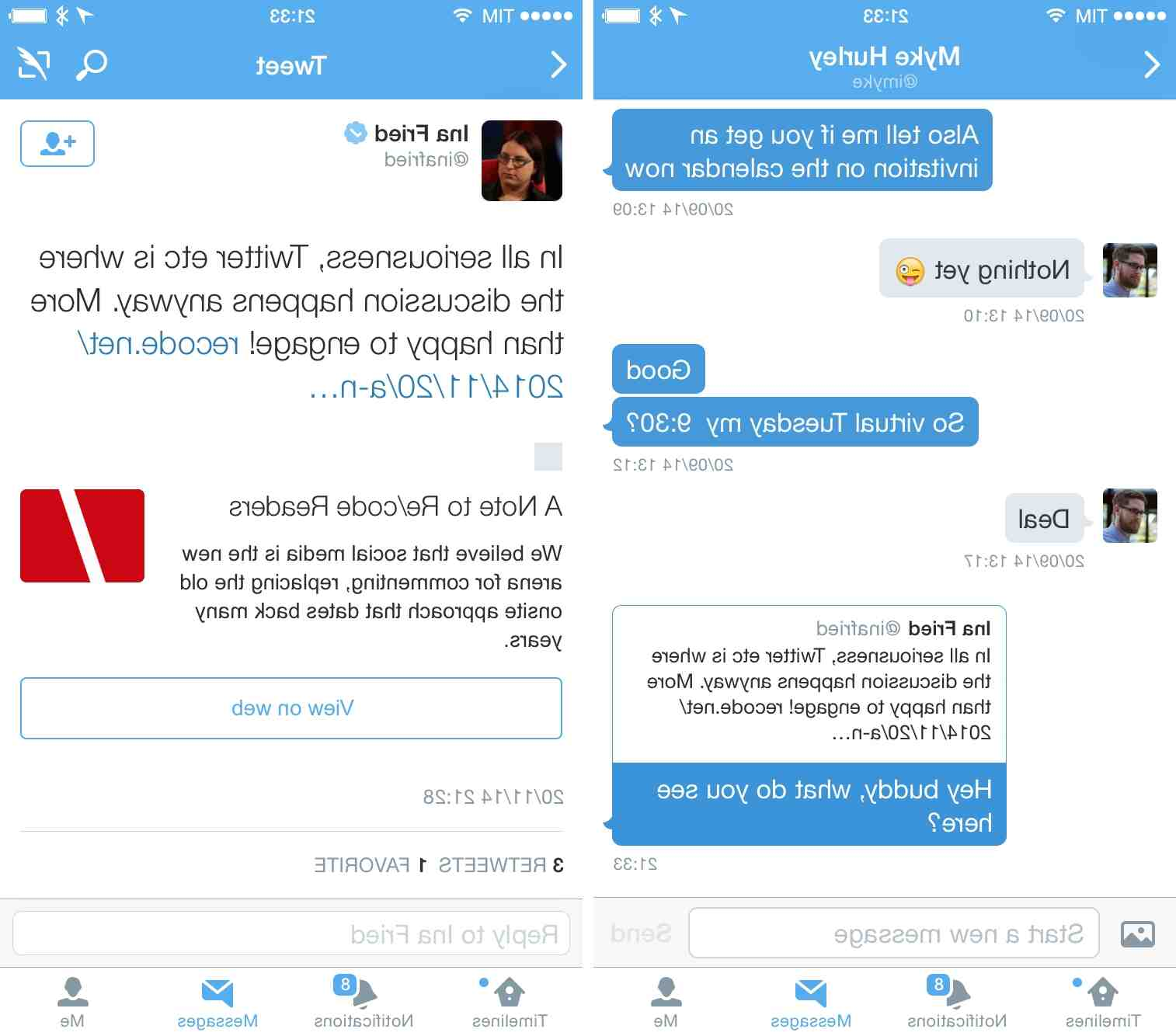Comment twitter envoyer un message privé